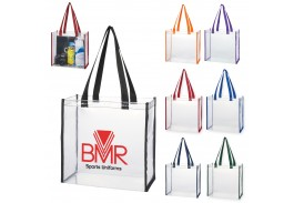 Clear Tote Bag with Large Imprint Area