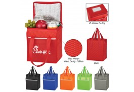 Wave Design Non-Woven Cooler Lunch Bag