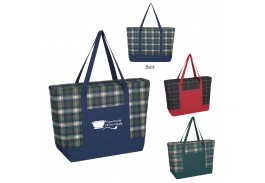 Crawford Plaid Tote Bag