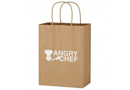 "8"" x 10-1/4"" Kraft Paper Brown Shopping Bag"