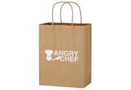 """8"""" x 10-1/4"""" Kraft Paper Brown Shopping Bag"""