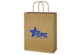 """10"""" x 13"""" Kraft Paper Brown Shopping Bag"""