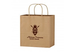 "13"" x 13"" Kraft Paper Brown Wine Bag"