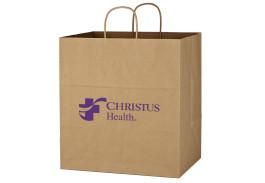 """14"""" x 15"""" Kraft Paper Brown Shopping Bag"""