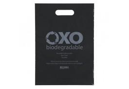 11 x 15 Oxo-Biodegradable Die Cut Handle Plastic Bag