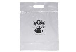 Zip Closure Die Cut Plastic Bag with Handle