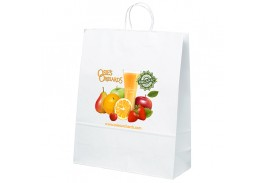 Stephanie White Kraft Bag with Full Color Imprint