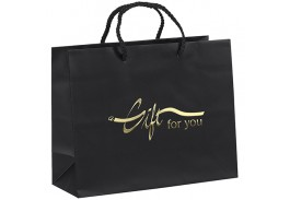 Paris Paper Gift Bag with Foil Hot Stamp Imprint