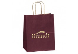 Munchkin Kraft Paper Bag with Foil Hot Stamp Imprint