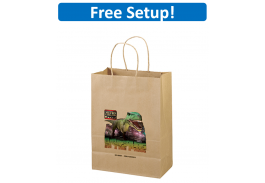 Eco Shopper Jenny Kraft Paper Bag with Full Color Imprint