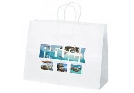 Vogue White Craft Bag with Full Color Imprint