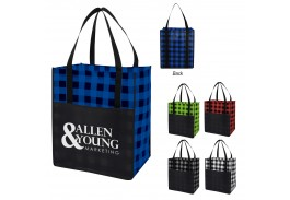 Large Northwoods Laminated Non-Woven Tote Bag